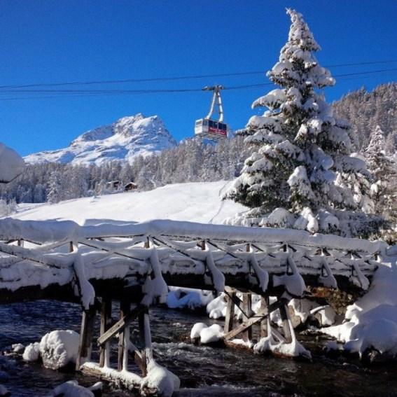 Fresh snow in St. Moritz, St. Moritz ski trip, St. Moritz ski vacation