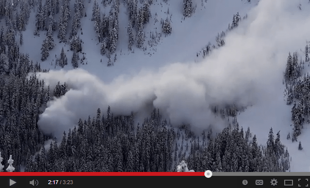 Stevens Pass controlled avalanche
