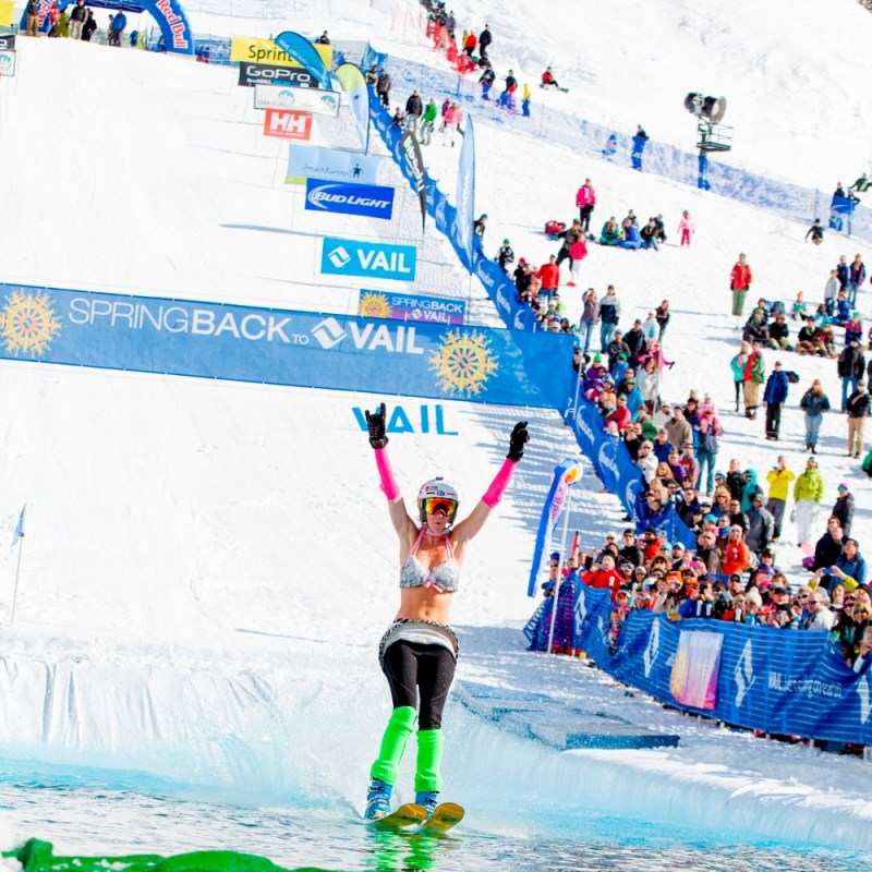 best spring skiing usa, World Pond Skimming Championships at Spring Back to Vail