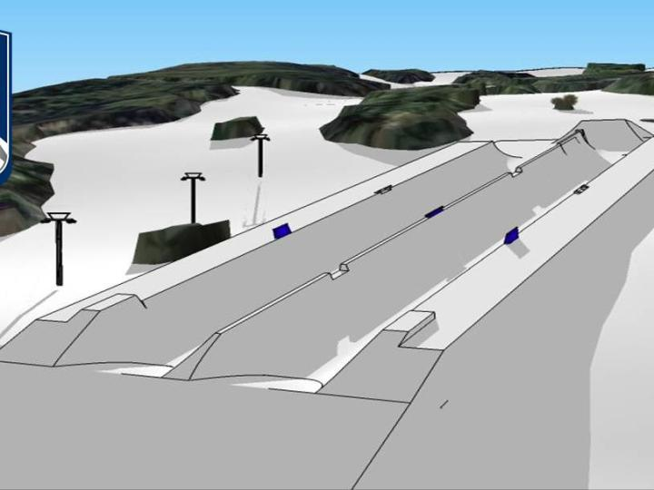 Aspen Snowmass Double Pipe, Red Bull Double Pipe Course Rendering