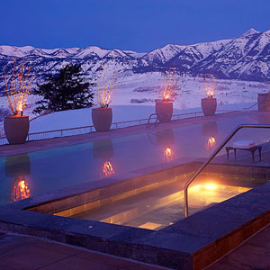 Amangani Jackson Hole, Amangani hot tub