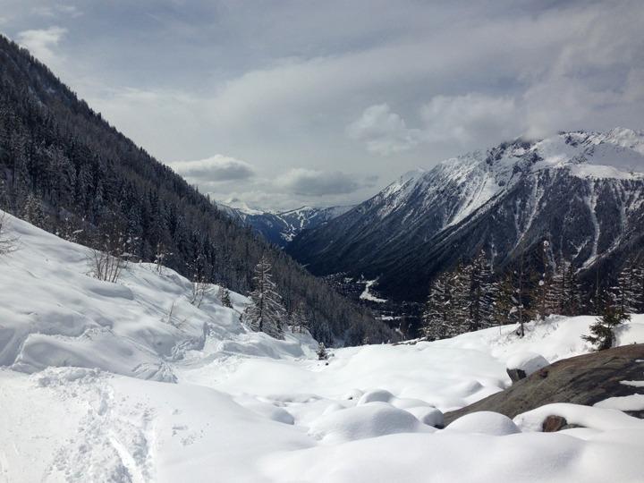 James Bond trail Chamonix beginning