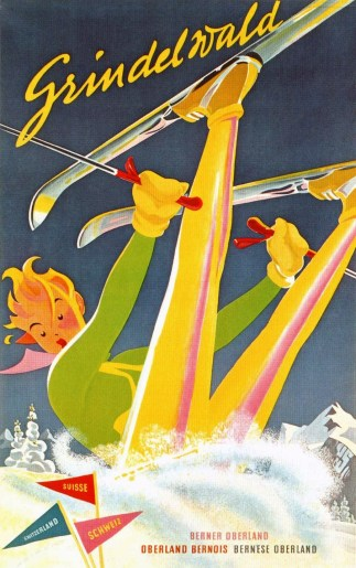 Grindelwald Vintage Ski Poster