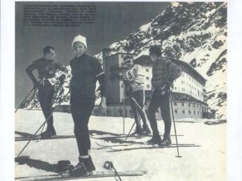 Ski racing champions Egon Zimmermann, Pepi Stigler, Emile Viollat and Guy Perillat | photo: Portillo