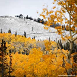 snow in September Deer Valley