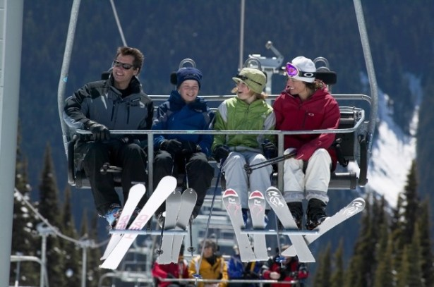 Whistler Blackcomb boasts 37 chairlifts to transport its 2 million visitors annually. pc: Destination BC/Randy Lincks
