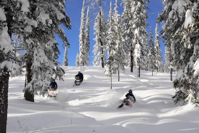 Silver Star snowmobiling
