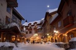 Sun Peaks ski in, ski out base village,