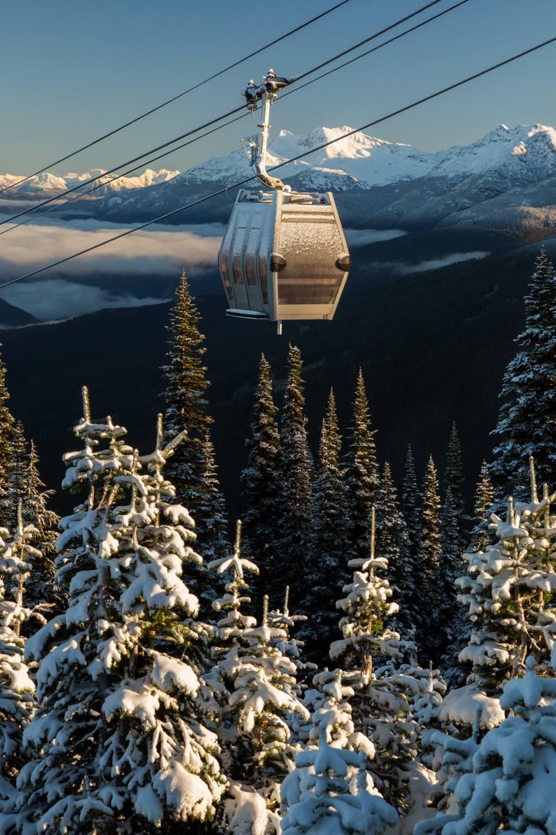 the Whistler gondolas
