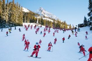 Crested Butte skiing Santas, Crested Butte Santas