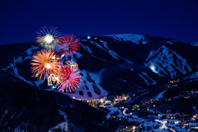 Beaver Creek NYE celebrations, Beaver Creek fireworks, Beaver Creek torchlight parade