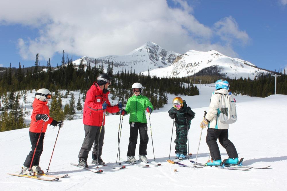 Big Sky beginner skiing