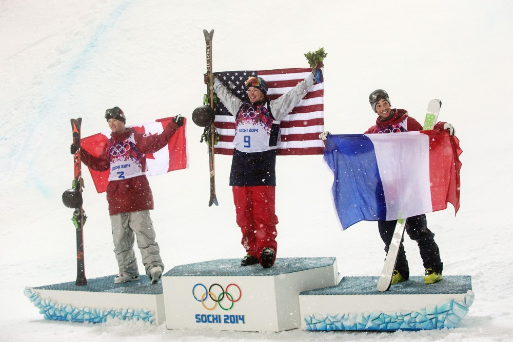 men's ski halfpipe medalists Sochi Olympics, David Wise gold medal halfpipe Sochi Olympics