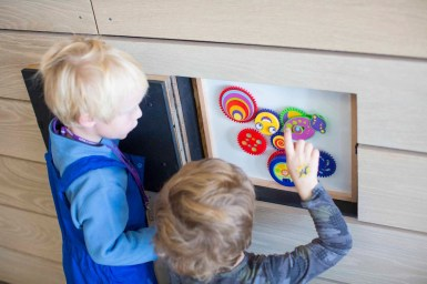 The Hideout's indoor facility keep children excited about mountain adventure through themed interactive play features. pc: Aspen Snomwass/Hal Williams