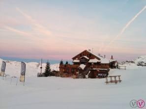 Sunrise over Val Thorens on Jan. 2