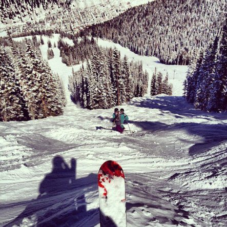learning to ski in Telluride