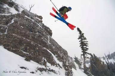 Air time on a pow day at Jackson Hole, Feb. 7| Photo: Chris Figenshaw, Jackson Hole Mountain Resort