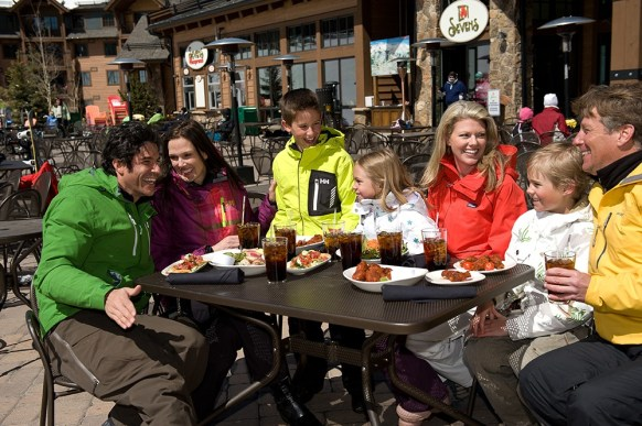 Situated at the base of Peak 7, Sevens features gourmet, open-hearth dining and a spectacular, sun-blessed patio for those gorgeous March and April afternoons. Photo: Bob Winsett/Breckenridge Ski Resort