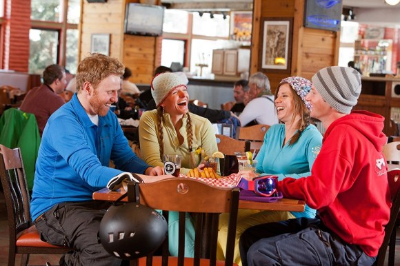 For ski-in access, a renowned Bloody Mary bar and great après-ski nosh specials, The Maggie on Peak 9 is a great spot to grab a more casual meal or drink. | Photo: Dann Coffey/Breckenridge Ski Resort