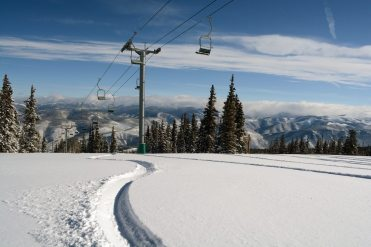 Earlier in March, Beaver Creek received three feet of snow, which will ensure great late-season spring conditions.   Photo: Beaver Creek/Vail Resorts