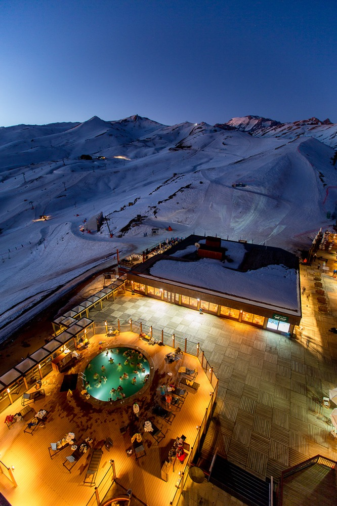 Hot tub Valle Nevado