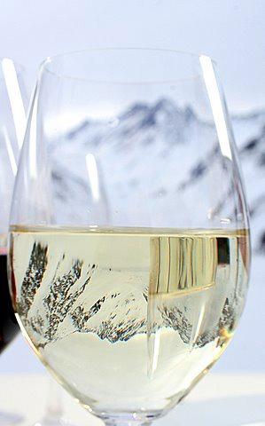 Chilean wine at Ski Portillo