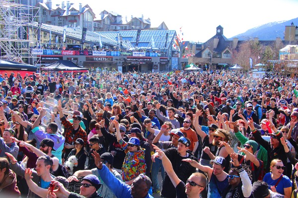 The World Ski and Snowboard Festival at Whistler offers outdoor concerts among its lineup of arts, entertainment and ski events. | Photo: Dave Humphreys/World Ski and Snowboard Festival