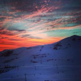 sunset Valle Nevado