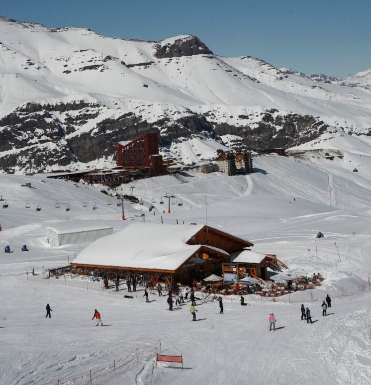 beginner skiing Valle Nevado