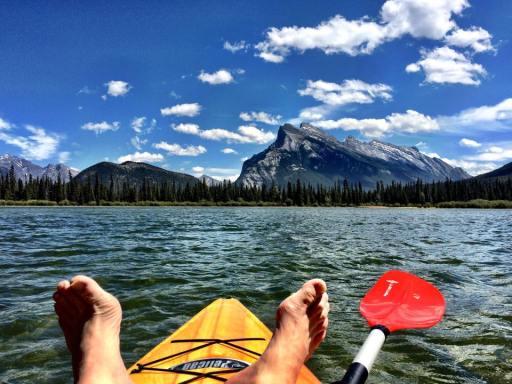 Paddleboarding Vermilion Lakes. | Photo: Banff Lake Louise