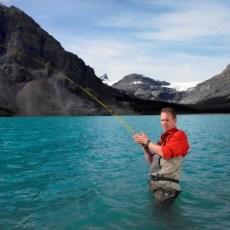Fly fishing on Bow Lake, Banff, Alberta. | Photo: Banff Lake Lousie