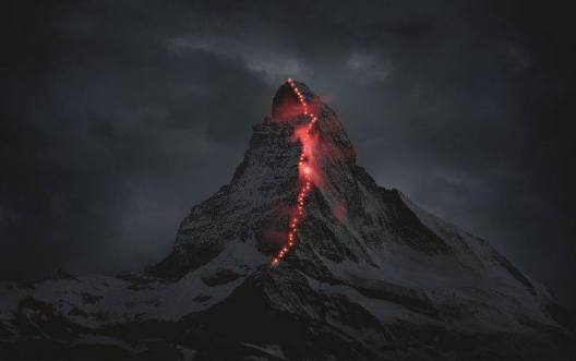 Hornli face, eastern face of Matterhorn, Matterhorn 150 years, Matterhorn first summit
