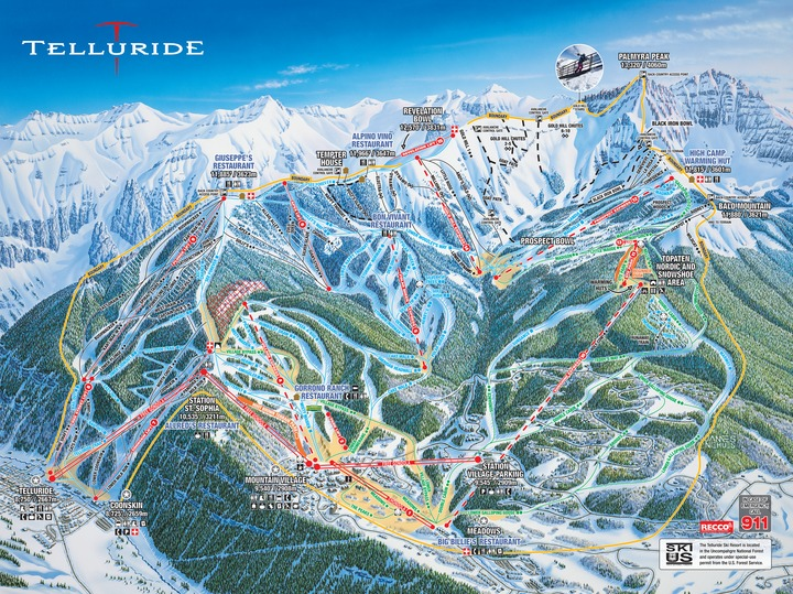 Offering 2,000 skiable acres of perfectly varied terrain, Telluride is a vertiable haven for every stripe of skier or snowboarder.