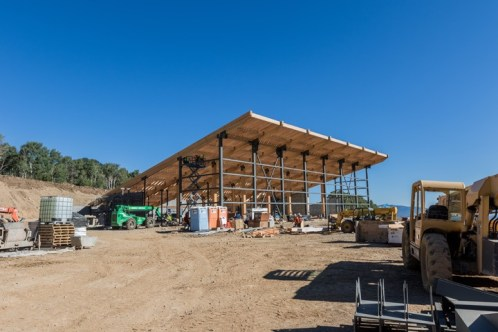 Construction underway at Miners Camp restaurant