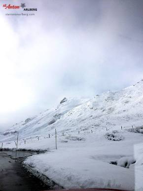 St. Anton october snow