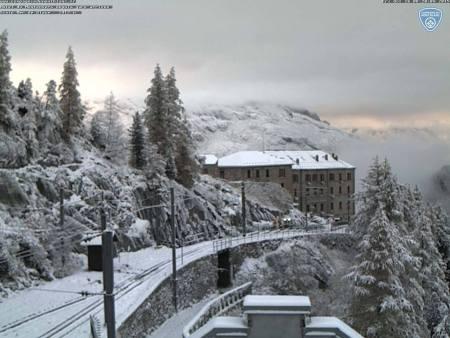 Chamonix october snow