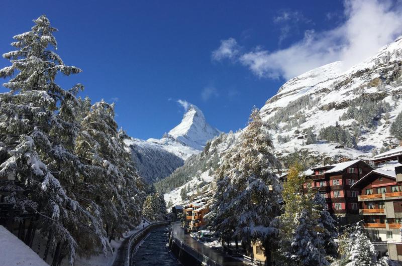 Zermatt october snow