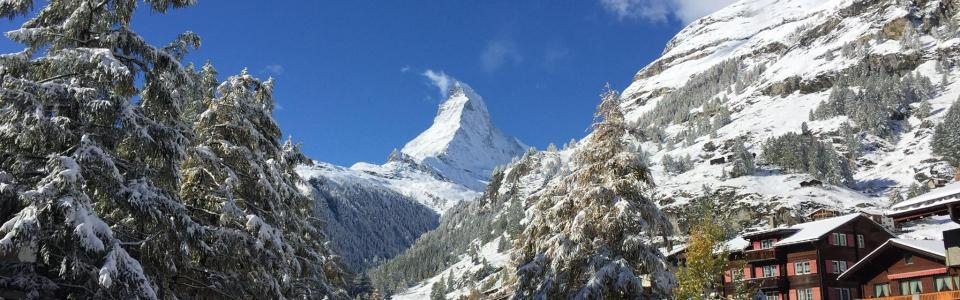 Zermatt october snow