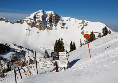 Guides will teach you how to properly operate avalanche equipment and ensure conditions are safe for skiing or riding. | Photo: Jackson Hole Mountain Resort