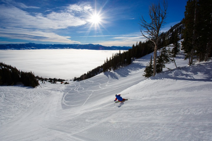intermediate skiing Jackson Hole