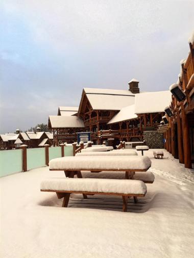 new snow at Lake Louise