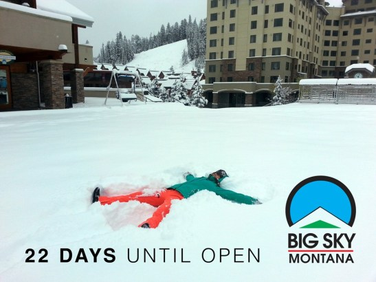 Big Sky has received 12 - 24 inches in the last 24 hours! | Photo: Nov. 4, 2015