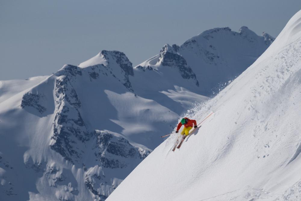 expert skiing on Whistler Mountain