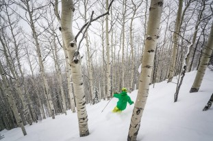 The glades around East River Express are a magical place to perfect your tree skiing and enjoy some adventure with your kids. | Photo: Chris Segal/Crested Butte Mountain Resort