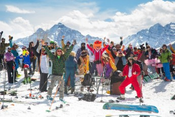 In the springtime in Aspen, a party is always just a couple steps or turns away. | Photo: Aspen Snowmass