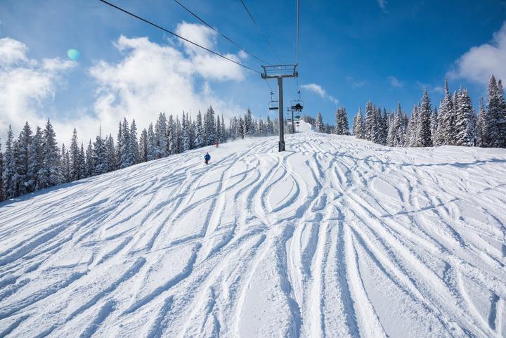 March spring skiing Colorado