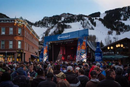The Bud Light Hi-Fi Series features a free downtown Aspen Core Party on March 26. Performer details coming soon.   Photo: Jeremy Swanson/Aspen Snowmass