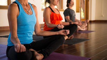 Yogis meditate at Wanderlust Yoga Studio in Squaw Valley, Calif. | Photo: Squaw Valley