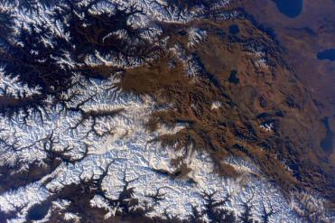 The Himalayas | Photo: Scott Kelly, NASA