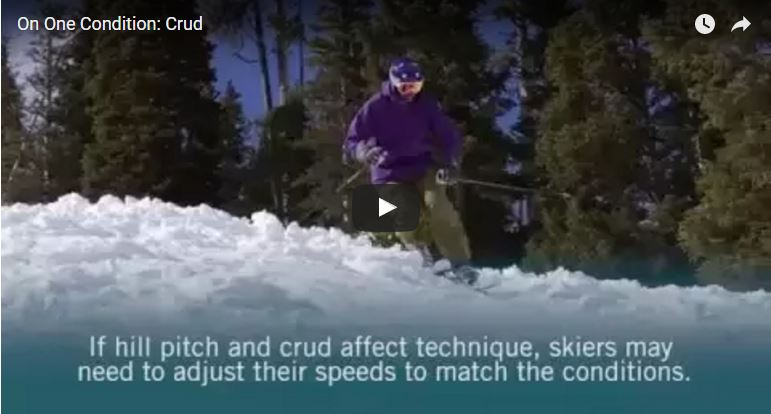 how to ski crud